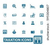 tax icons | Shutterstock .eps vector #595304807