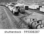many boxcars and cargo shipping ...   Shutterstock . vector #595308287