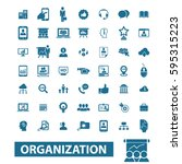 organization icons  | Shutterstock .eps vector #595315223