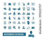 business school icons  | Shutterstock .eps vector #595315757