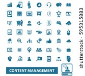 content management icons  | Shutterstock .eps vector #595315883