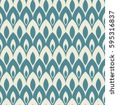 seamless pattern with abstract... | Shutterstock .eps vector #595316837
