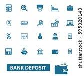 bank deposit icons | Shutterstock .eps vector #595320143