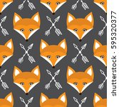 vector seamless pattern with...   Shutterstock .eps vector #595320377