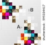 modern geometrical abstract... | Shutterstock .eps vector #595334417