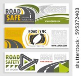 road safety and transit service ... | Shutterstock .eps vector #595372403