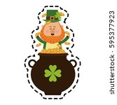 st patricks day icon image  | Shutterstock .eps vector #595377923
