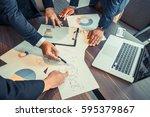 businessmen meeting  business... | Shutterstock . vector #595379867