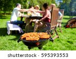 leisure  food  people and... | Shutterstock . vector #595393553
