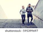 fitness  sport  exercising ... | Shutterstock . vector #595399697