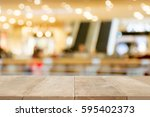 brown wood table floor scene of ... | Shutterstock . vector #595402373