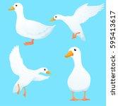 duck vector set 1 | Shutterstock .eps vector #595413617