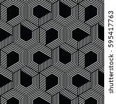 white and black pattern... | Shutterstock .eps vector #595417763
