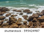 Close Up View Of Seascape With...