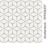 seamless geometric triangle... | Shutterstock .eps vector #595436357