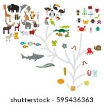 evolution scale from... | Shutterstock .eps vector #595436363