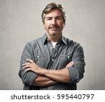 man portrait | Shutterstock . vector #595440797
