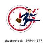 modern creative business... | Shutterstock .eps vector #595444877