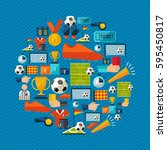 soccer culture icon set.... | Shutterstock .eps vector #595450817
