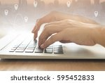 location search online internet ... | Shutterstock . vector #595452833