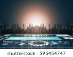 imagination future cities for... | Shutterstock . vector #595454747
