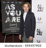 new york  ny   february 24 ... | Shutterstock . vector #595457903