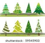 pine tree set | Shutterstock .eps vector #59545903