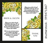 invitation with floral... | Shutterstock .eps vector #595471367