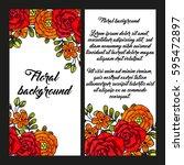 romantic invitation. wedding ... | Shutterstock .eps vector #595472897