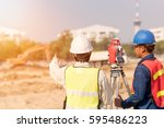 construction engineer with... | Shutterstock . vector #595486223
