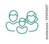 family icon flat. | Shutterstock .eps vector #595493357
