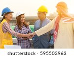 architects and or businessman ... | Shutterstock . vector #595502963