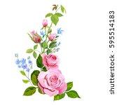 floral composition  bouquet... | Shutterstock .eps vector #595514183