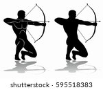 archer silhouette  black and...