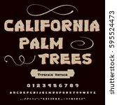 font handcrafted vector script... | Shutterstock .eps vector #595524473