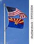 Us And Arizona Flag