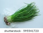 bunch of green onions with... | Shutterstock . vector #595541723