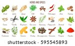 big vector set of popular... | Shutterstock .eps vector #595545893
