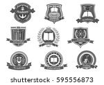university and academy vector... | Shutterstock .eps vector #595556873