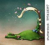 background for festive greeting ... | Shutterstock . vector #595618397