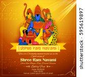 Illustration Of Lord Rama  Sit...
