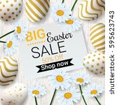 big easter sale background with ...