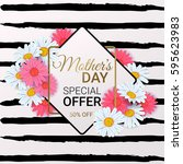 mother's day sale background... | Shutterstock .eps vector #595623983