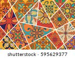 vector decorative background.... | Shutterstock .eps vector #595629377
