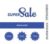 super sale banner template...   Shutterstock .eps vector #595634843
