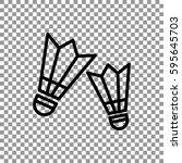 badminton icon flat. | Shutterstock .eps vector #595645703