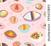 cartoon seamless pattern... | Shutterstock .eps vector #595653893