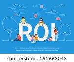 roi vector illustration of...   Shutterstock .eps vector #595663043