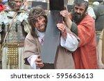 gora kalwaria  poland   april...   Shutterstock . vector #595663613