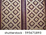 the pattern on the temple gate | Shutterstock . vector #595671893